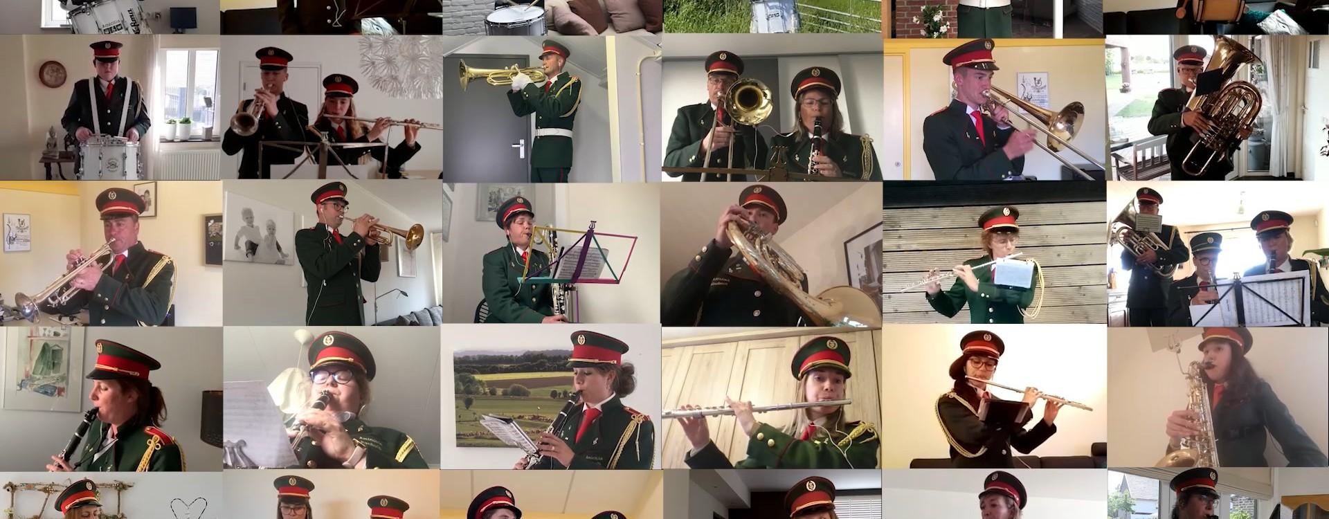 Broonk mars La St, Hubert overzicht muzikanten